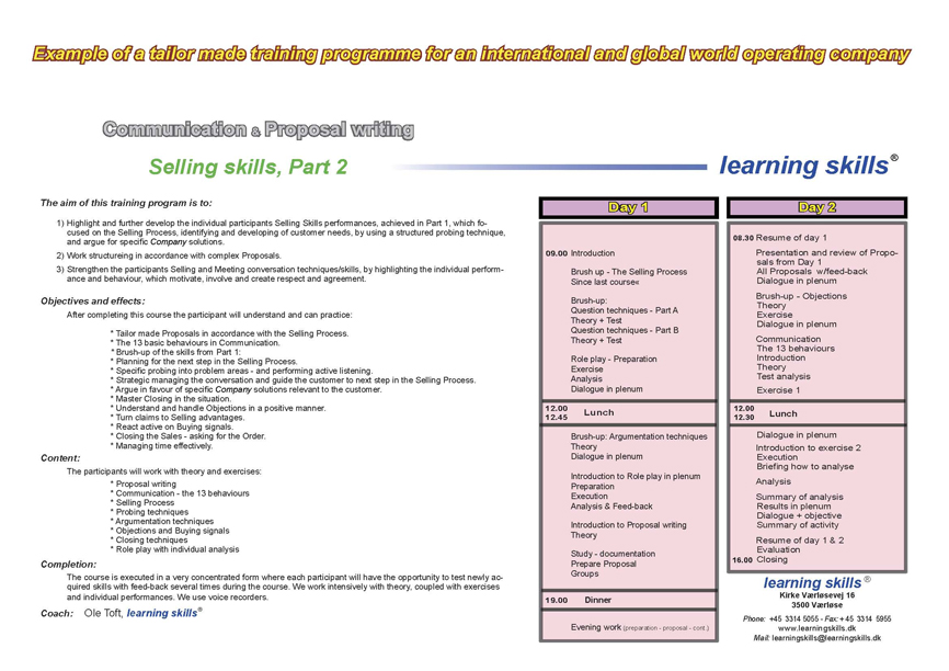 proposal writing training Training proposals are offers made by a company to an institution for expressing the purpose of providing training to its interns, students, workers or management.